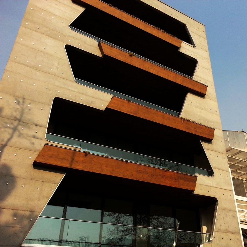 Niloufar Residential Building, exposed concrete facade, behnam shahbazi
