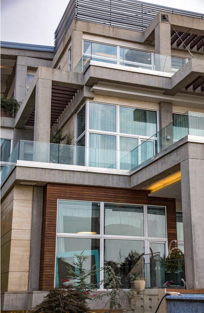 Concrete repair & applying hydrop , expose concrete, expose concrete stucture, noshahr villa